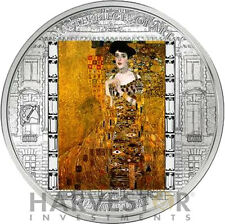 2012 MASTERPIECES OF ART - ADELE BLOCH-BAUER - GUSTAV KLIMT - 3 OZ. SILVER COIN