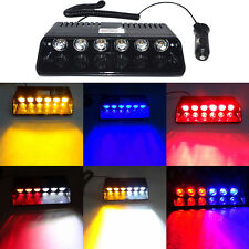 Super Bright LED Strobe Lights Visor Dashboard Windshield Emergency Warning  6W