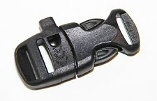 Whistle Buckle Clip ITW Sternum / Strap for 16 mm Webbing Strap, Black / Black