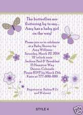 Carter's Garden Party Butterfly Baby Shower Invitations