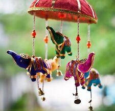 Indian Elephant Umbrella LUCKY MOBILE WALL HANGING PUPPETS Wind chimes