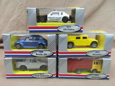 x5 EDOCAR collect them all series : HUMMER POLICE DISPOSAL VW BEETLE 68 & 4 X 4