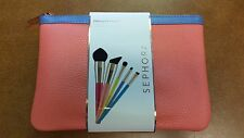 SEPHORA Different Strokes Brush 5 pc Set Face Shadow Crease + Pouch - Brand New