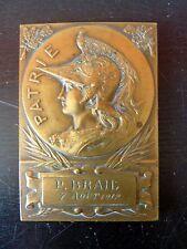Médaille Bronze ARTHUS BERTRAND - 1er Prix Concours de Sabre 6eme Dragon