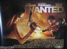 WANTED ORIGINAL 2008 QUAD POSTER ANGELINA JOLIE JAMES MCAVOY