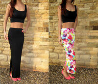 EXTRA LONG  TALL Jersey Skirt MAXI Length. Plain or Print Tall