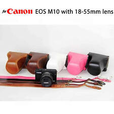 Leather Case Holster for Canon EOS M3 with 18-55mm Lens