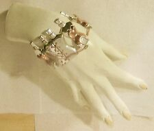 Manchette Jean Paul Gaultier torse corset bracelet metal bottle cuff torso JPG