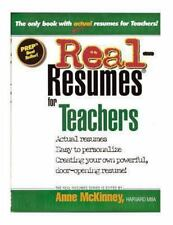Real-Resumes for Teachers by Anne McKinney (2012, Paperback)