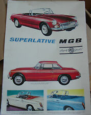 MGB ROADSTER ADVERTISING POSTER PRINT A3 SUPERLATIVE MGB