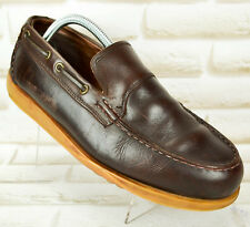 Pont des embarcations MARLBORO CLASSIC Mens Brown Leather chaussures mocassins taille 7 UK, 41 EU
