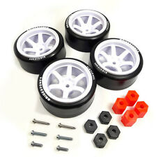 4PCS 1/10 RC Rims Speed Racing Car Tires Drifting Wheel Modified Parts White
