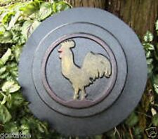 plaster,concrete mould plastic rooster in border stepping stone mold