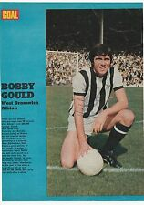 BOBBY GOULD WEST BROMWICH ALBION 1971-1973 ORIGINAL SIGNED MAGAZINE CUTTING