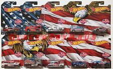 2016 Hot Wheels Stars and Stripes SET of 10 Walmart Exclusive