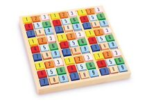 SUDOKU wooden puzzle numbers coloured dices NEW