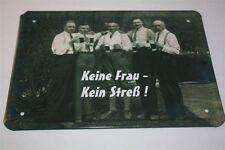 KEINE FRAU - KEIN STRESS -    Blechschild 21x15 cm 0135