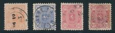 1875 - 1882 Finland ISSUES AS LISTED, ALL USED SOUND, NO FAULTS, CAT VALUE $95