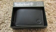 TIMBERLAND Men Genuine Leather Passcase Bifold WALLET NIB Black