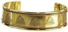 Adjustable Triquetra Engraved Copper Bracelet (Pagan Wicca) FREE SHIPPING