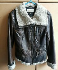Michael Kors 100% leather Jacket, size UK10 - VGC