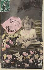 """Carte Postale Fantaisie Ancienne """" Carte Bonne  Année 1909 Commercy """""""
