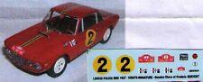 decal 1/43 LANCIA FULVIA HF 1.3 MONTECARLO 1967 Virate Miniature V038