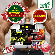 TESTOGEN ANABOLIC -STRONG LEGAL TESTOSTERONE + FAT BURNER ULTIMATE WORKOUT KIT