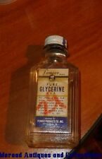 Vintage Pameco Pure Glycerine 1 oz. Contents Pennex Products Pittsburgh PA
