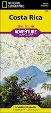Costa Rica Adventure Travel Map National Geographic Waterproof