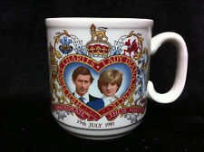 Churchill England HRH PRINCE CHARLES & LADY DIANA SPENCER 1981 Wedding Mug Di