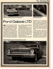 1965 FORD GALAXIE LTD ~ ORIGINAL SINGLE-PAGE NEW CAR PREVIEW ARTICLE / AD