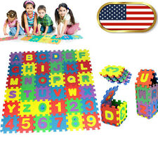 36Pcs Baby Child Number Alphabet Puzzle Foam Maths Educational Toy Gift Floor