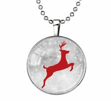 Vogue Punk Style Glow in the Dark Stainless Steel Pendant Necklace Running deer