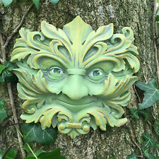 Green Man Garden Wall Ornament Plaque Baroque King Floral Outdoor NEW 09072