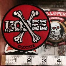 "POWELL PERALTA ""CROSSBONES"" SKATEBOARD PATCH - Embroidered logo - New from 2006"