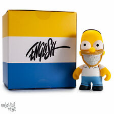 "The Simpsons Homer Grin By Ron English - Kidrobot 3"" Figure Brand New Sealed"