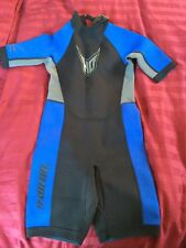 HO Sports MFG  Shorty Wetsuit Jet Ski 2mm 14 Boy Girl Blue Neoprene Youth