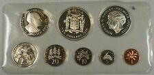 1974 Jamaica 8 Coin Proof Set .925 Silver $10 and $5 Coin-Franklin Mint- NO Box