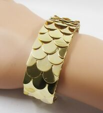 RF Ever Shiny GOLDEN Fish Scales Bracelet Bangles For Women