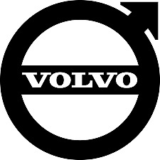 "volvo vinyl sticker decal 7x7"" car lorry glass bodywork deco"