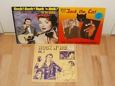 Rockabilly/Rock`n`Roll Sammlung - 3 LP`s : Jackie Lee Cochran,The Big Bopper,...