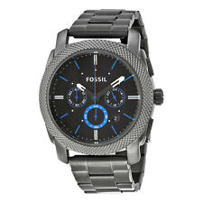 Fossil Machine Chronograph Black Dial Gunmetal Ion-plated Mens Watch FS4931