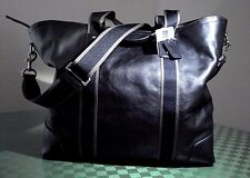 COACH MEN'S HERITAGE WEB LEATHER WEEKEND TOTE MESSENGER TRAVEL BAG F71169 NWT