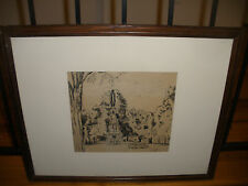 Listed artist EUGENE BERMAN (Russian, 1899-1972) monument ink on paper painting
