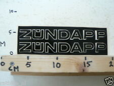 STICKER,DECAL VINTAGE ZUNDAPP, ZÜNDAPP LARGE TEXT LETTERS NOT 100 % OK