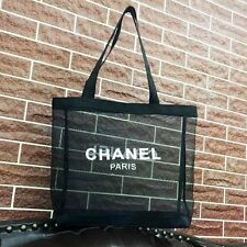 CHANEL Limited Edition Large Nylon mesh Tote shoulder beach tote Bag VIP Gift
