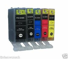5 x XL INK CARTRIDGES FOR CANON PIXMA IP4600 MP550 IP4700 CHIP Refill INK TANK