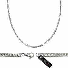 Silvadore - FINE CURB Silver Stainless Steel Men's Chain Necklace 20'' 51cm
