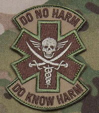 Morale Patch - DO KNOW HARM - Skull - Milspec Monkey - Multicam - Green ATACs